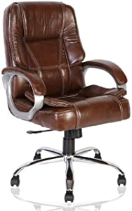 Green Soul Vienna Mid-Back Leatherette Office Chair (Brown)