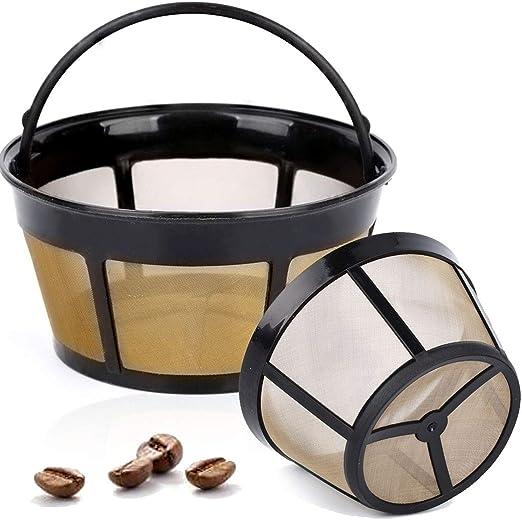 Taktik - Paquete de 2 canastas reutilizables Filtro de café Filtro ...