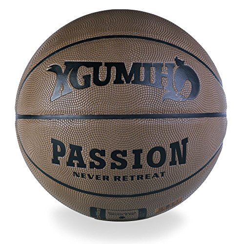 "Basketballs Outdoor/Indoor PU Leather Official Size 7/29.5"" Brown Games Professional Street By XGUMIHO"