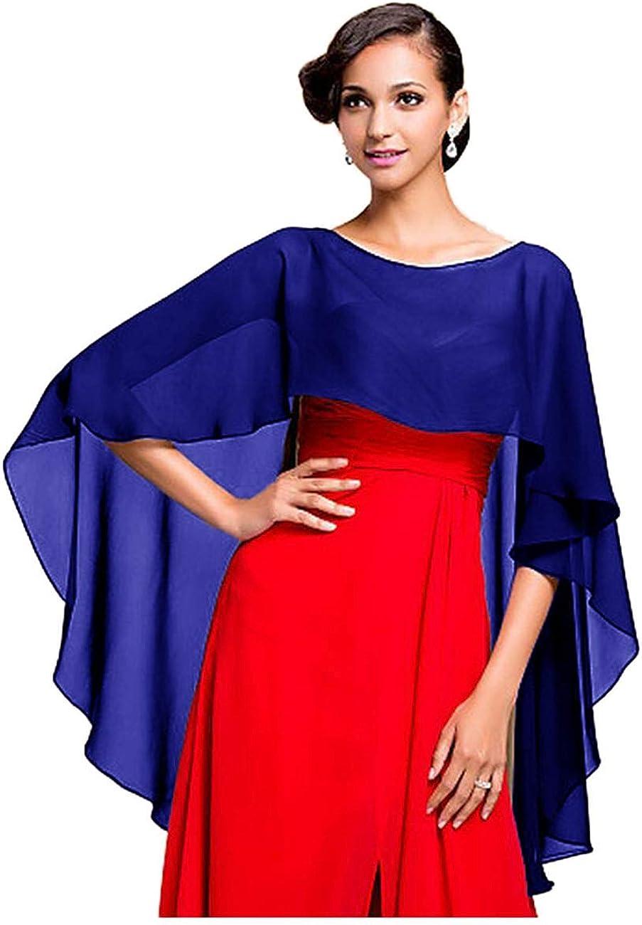 da matrimonio da gala o ricevimento azzurro Taglia unica adatta a qualsiasi abito da sposa CoCogirls Stola in chiffon per abiti in diversi colori da sera