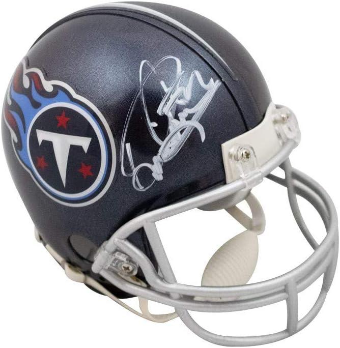BAS COA Derrick Henry Autographed Tennessee Titans VSR4 Mini Football Helmet