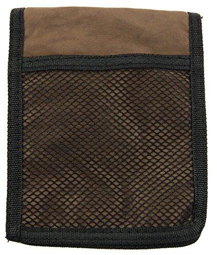NB24 Versand Brustbeutel Brusttasche (2213), Nylon, Größe ca. 16 x 12,5 x 5 cm, braun