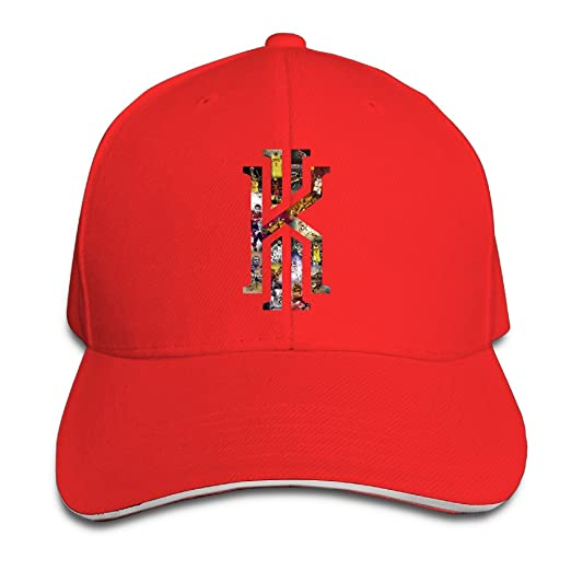 Amazon.com  NUBIA Kyrie KI Logo Irving Sun Protection Hat Snapback Cap Red   Home   Kitchen bcf99653a797