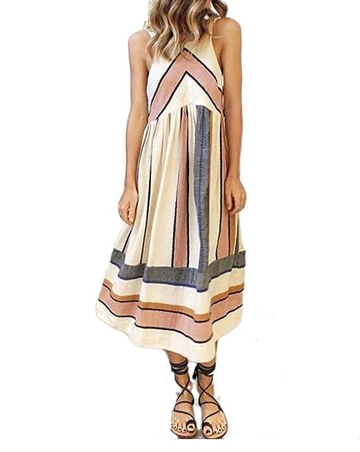 online store 30ac1 79fba Targogo Sommerkleider Damen Elegant Strandkleid Casual ...