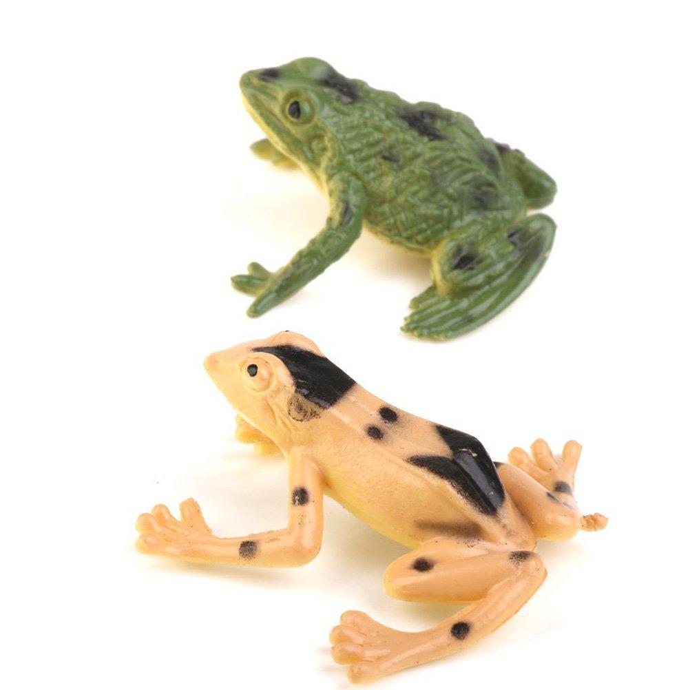 PIXNOR Toy Figure Model Plastic Frog Figures Kids Toy Set 12 Pieces
