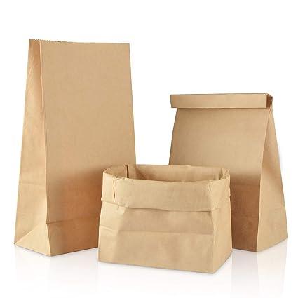 Gimars [50 PCS] Bolsas de papel marrón, Bolsas de regalo ...
