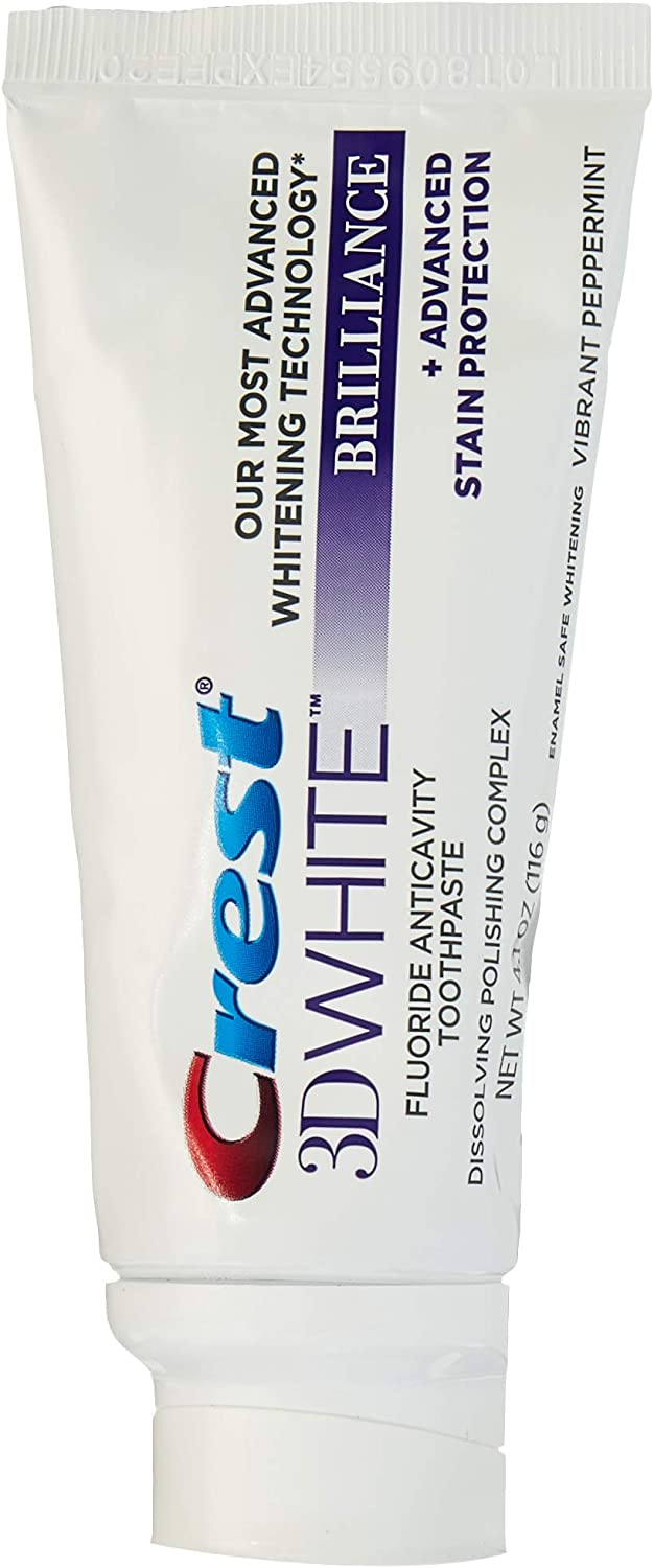 Crest 3D White Brilliance Toothpaste, Vibrant Peppermint,4.1 Ounce, Pack of 2