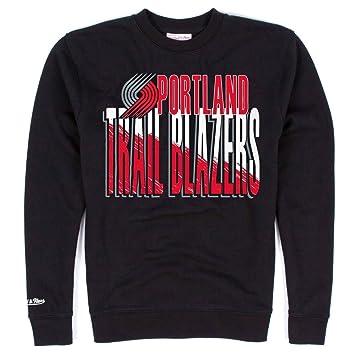 Mitchell & Ness Trail Blazers de plantas Portland Crew neck NBA sudadera-camiseta de colour