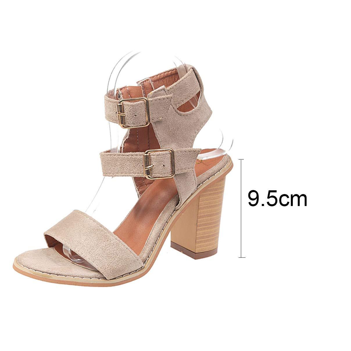 b1ce6c8e23267 Amazon.com: Women High Heel Square Sandals, NDGDA Ladies Fashion ...