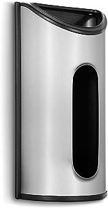 Malmo 1 x Stainless Steel Wall Mount Grocery Bag Dispenser, Anti-Fingerprints
