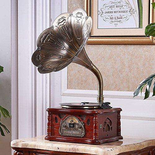 GFEI El Big Horn radio / Bluetooth Retro Tocadiscos vinilo ...