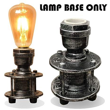 Amazon.com: Lámpara de mesa industrial vintage con diseño de ...