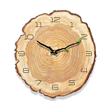 "16""Reloj De Madera Árabe Número De Diseño Rústico País Estilo De Madera Reloj De"