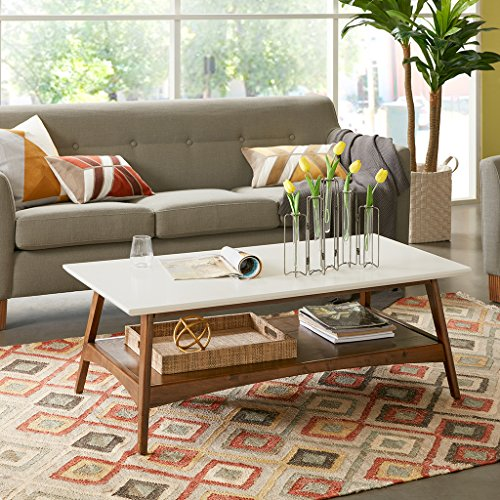 Parker Coffee Table White/Pecan See below - Classic Pecan Finish