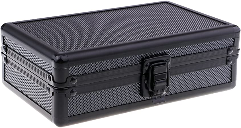 Magideal Humidor Humidor puro caja de transporte de aluminio + cedro – negro: Amazon.es: Hogar
