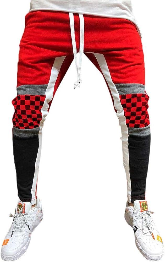 VPASS Pantalones para Hombre,Cintura Ajustable por Cordón y ...