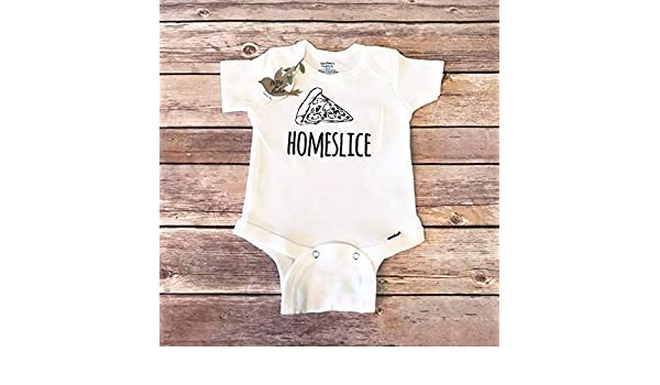 9723f57cf Amazon.com: Home Slice Pizza Baby Onesie®, Hipster Baby, Funny Baby Onesies,  Baby Shower Gift, Pizza Shirt, Unisex Baby Clothes, Pizza Onesie, ...