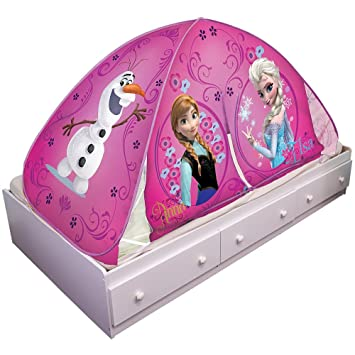 Disney Frozen Elsa and Anna Olaf Pink 2 in 1 Ez Twin Bed Canopy Tent Topper  sc 1 st  Amazon.com & Amazon.com: Disney Frozen Elsa and Anna Olaf Pink 2 in 1 Ez Twin ...