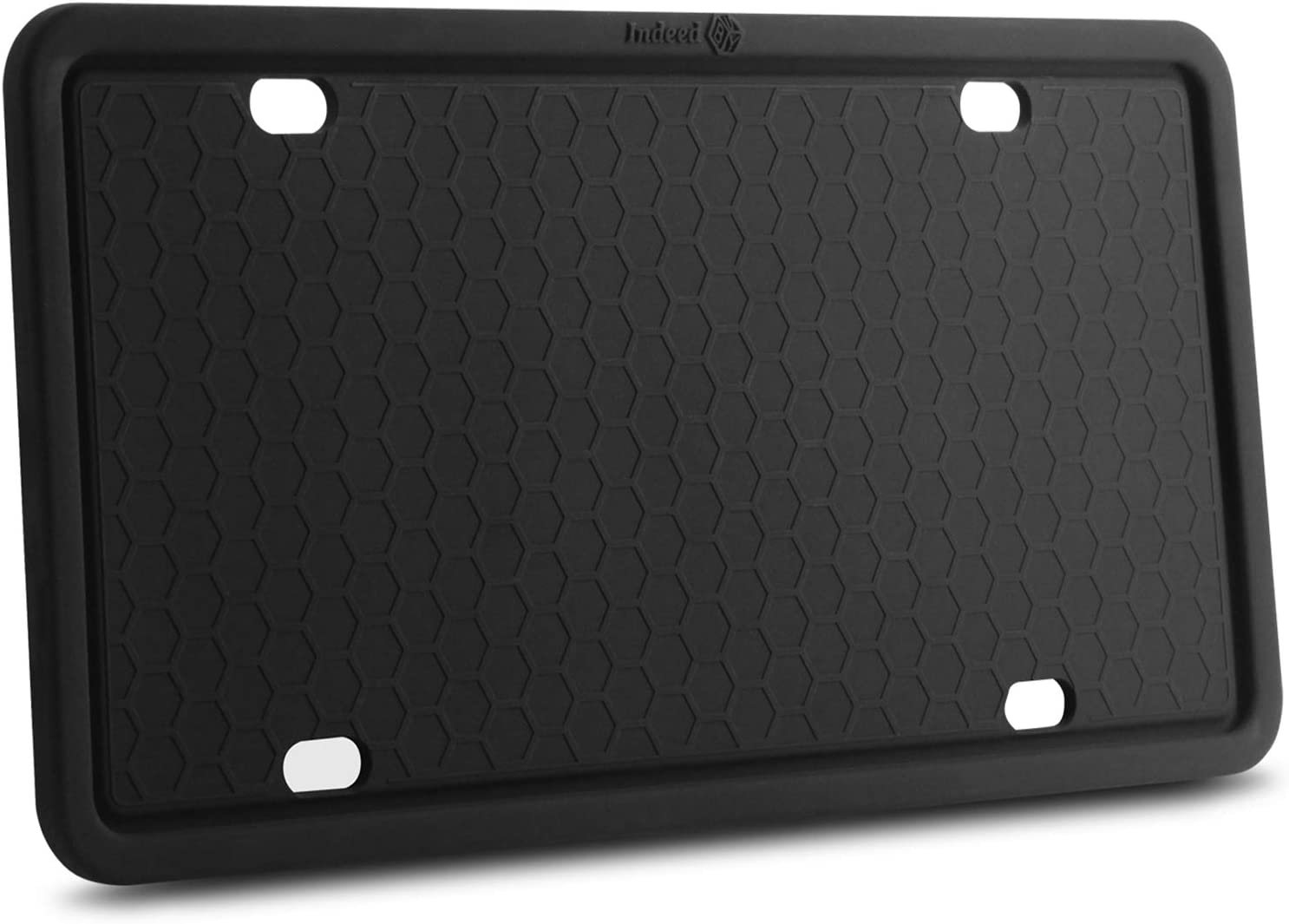 Weather-Proof - Black Rust-Proof - 2 Pack Black Diamond Auto Silicone License Plate Frame - Universal FIT American Designed Rattle-Proof