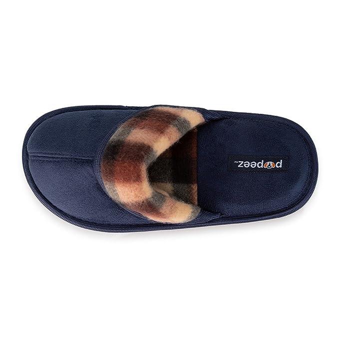 849391e8 Exercise & Fitness Pupeez Boys Scuff Slipper Plaid Trim;Kids Classic Ultra  Soft Comfort House Shoes Slippers