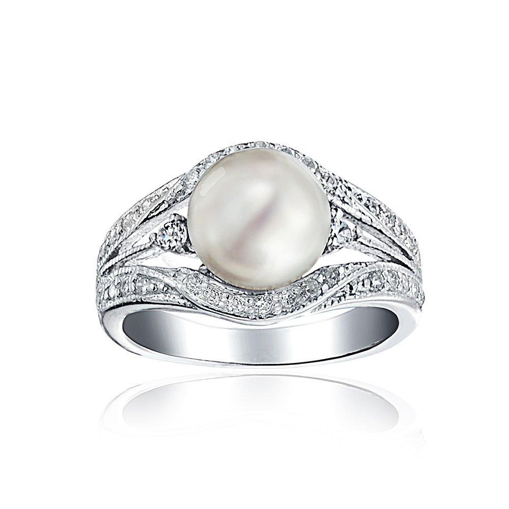 Valero Pearls anillo Sterling plata 925 //agua dulce-cultivadas 3-de colores