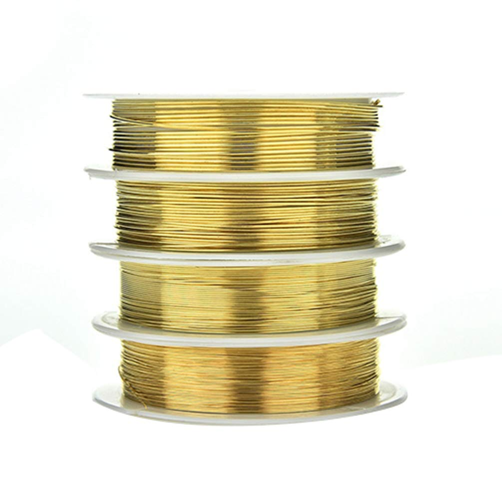 Gold 0.3 mm qingsb 0.3//0.4//0.6//0.8mm Plated Copper Wire Beads Jewelry Making Accessories DIY Craft