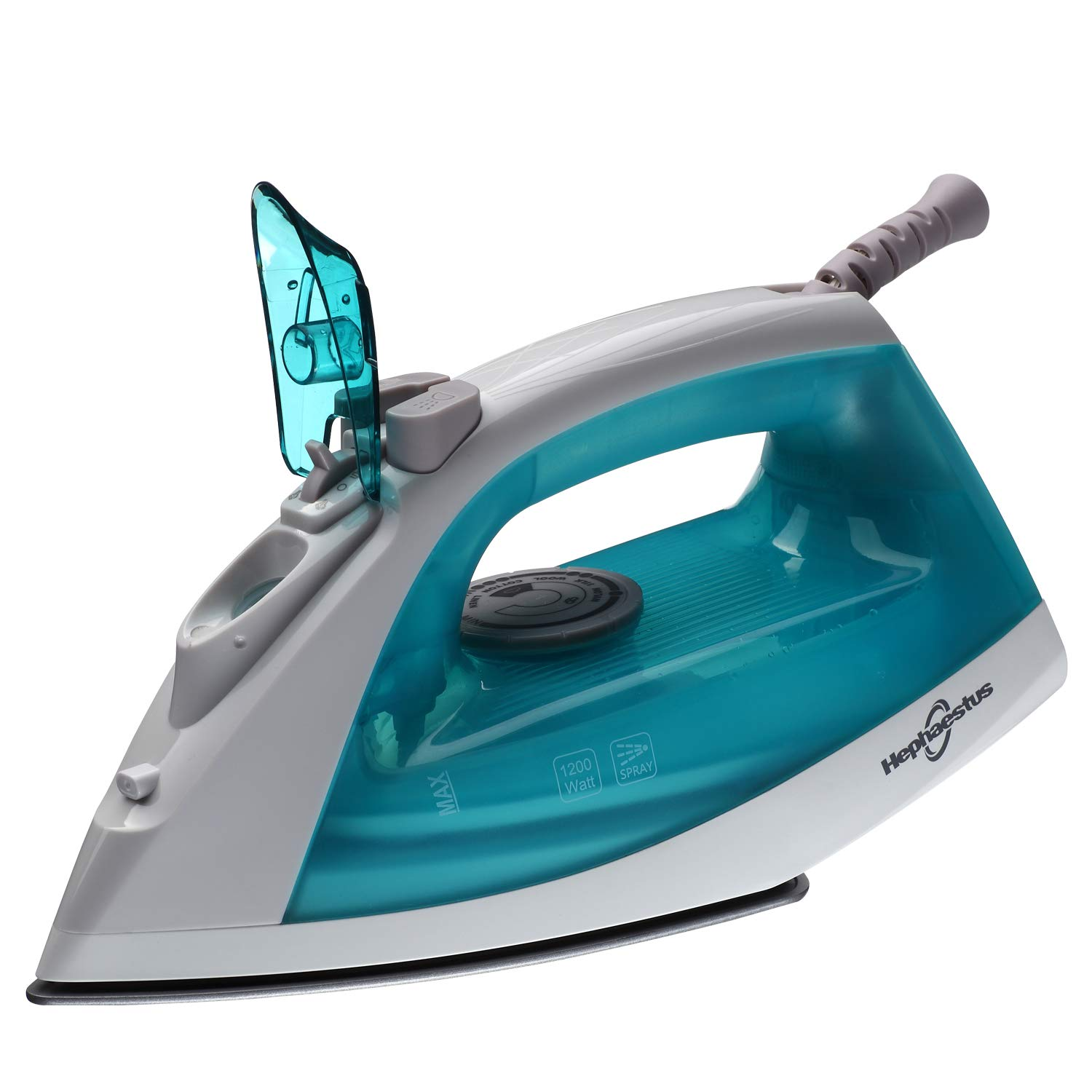 Steam Iron 1200W Coated Stainless Steel Soleplate Variable Steam Button 8 Feet and 360-degree Swivel Cord