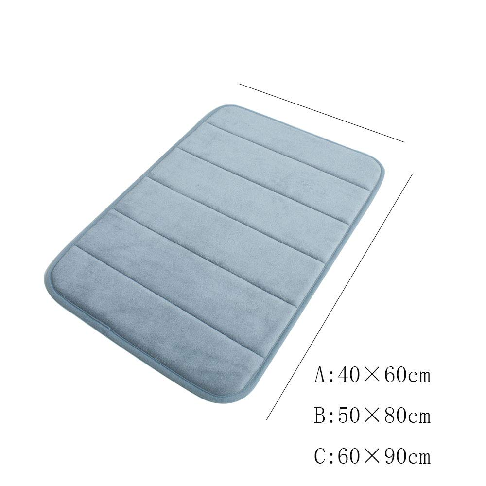 TLTLFHD Badematte, Badematte, Badematte, Badezimmer Wasserdicht Rutschfeste Duschmatte Zu Hause Umweltfreundlich Badezimmerteppich 40 × 60cm (Farbe   Blau, größe   B) B07H87RWMV Duschmatten ab1ea0