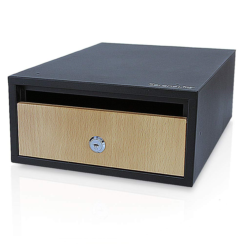 SereneLife SLSFE31 水平マウント壁ロックメールボックス – 亜鉛メッキ 13.7 x 9.8 x 4.7 大きなドロップスロット 安全なロックキー付き ブラック (3個パック)   B07GCX5QDK