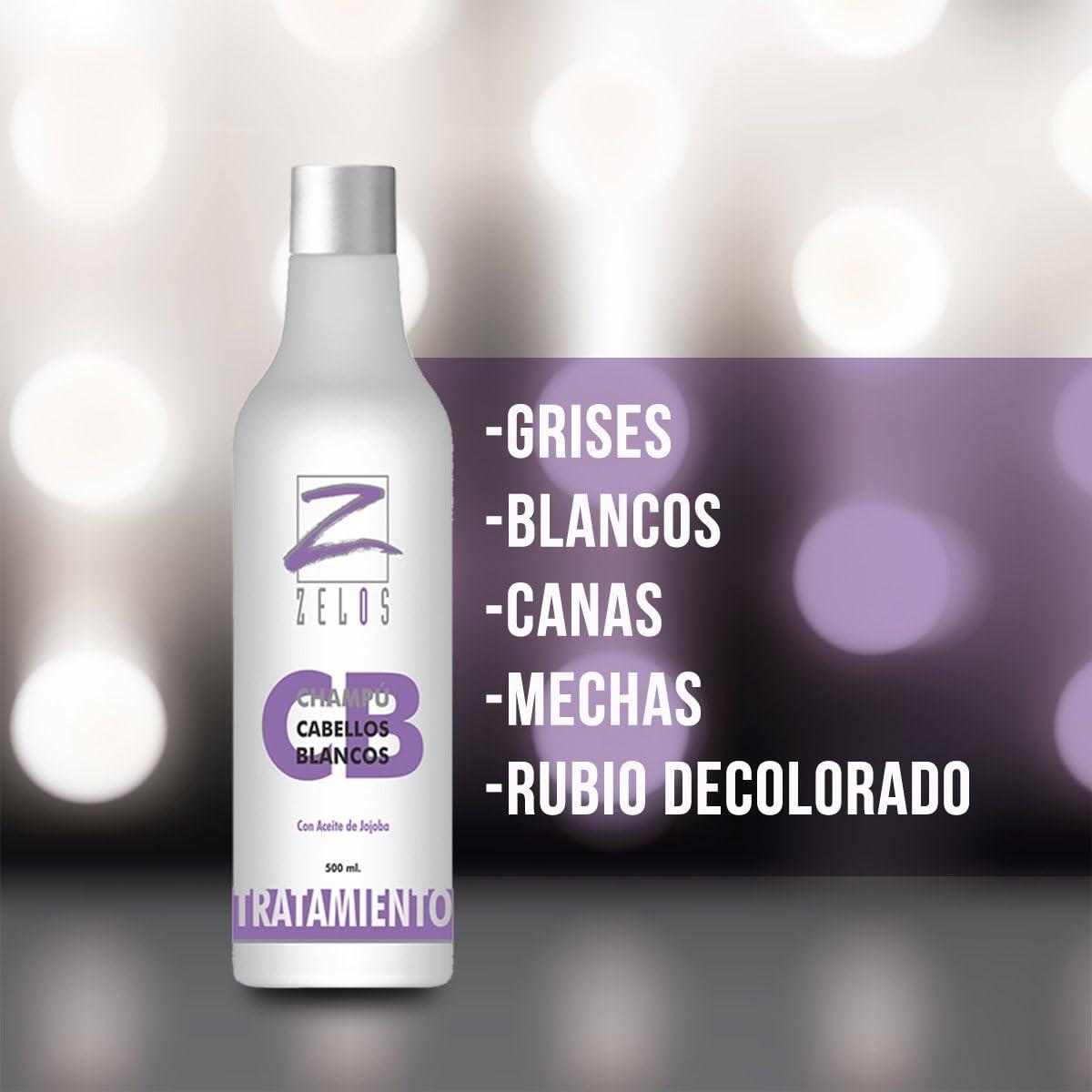 Champú Violeta 500ml - Cabellos Blancos, Grises, Decolorados ...