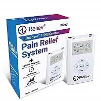 iReliev TENS Unit Electronic Pulse Massager & (8) Electrodes Pain Relief Bundle-...