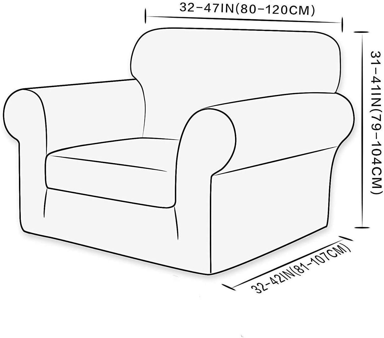 185-235 cm) Rev/êtement de Canap/é Extensible /à 3 Places(Sable E EBETA 2-Pi/èce Jacquard Housse de Canap/é /Élastique Housses de canap/é Housses de Coussin