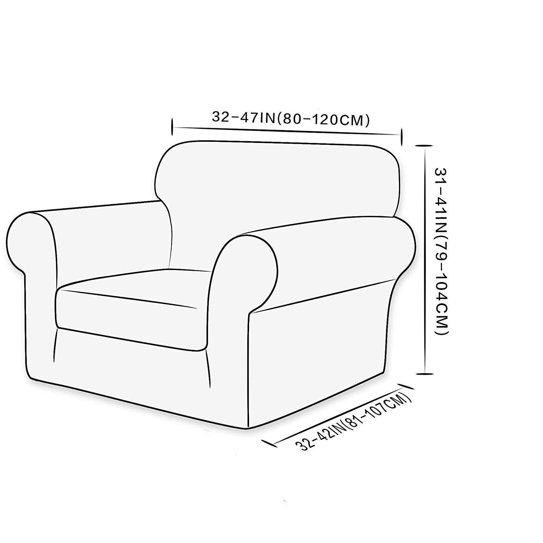 Sessel 1 Sitzer Ebeta Elastisch Sofa überwürfe Sofabezug Stretch