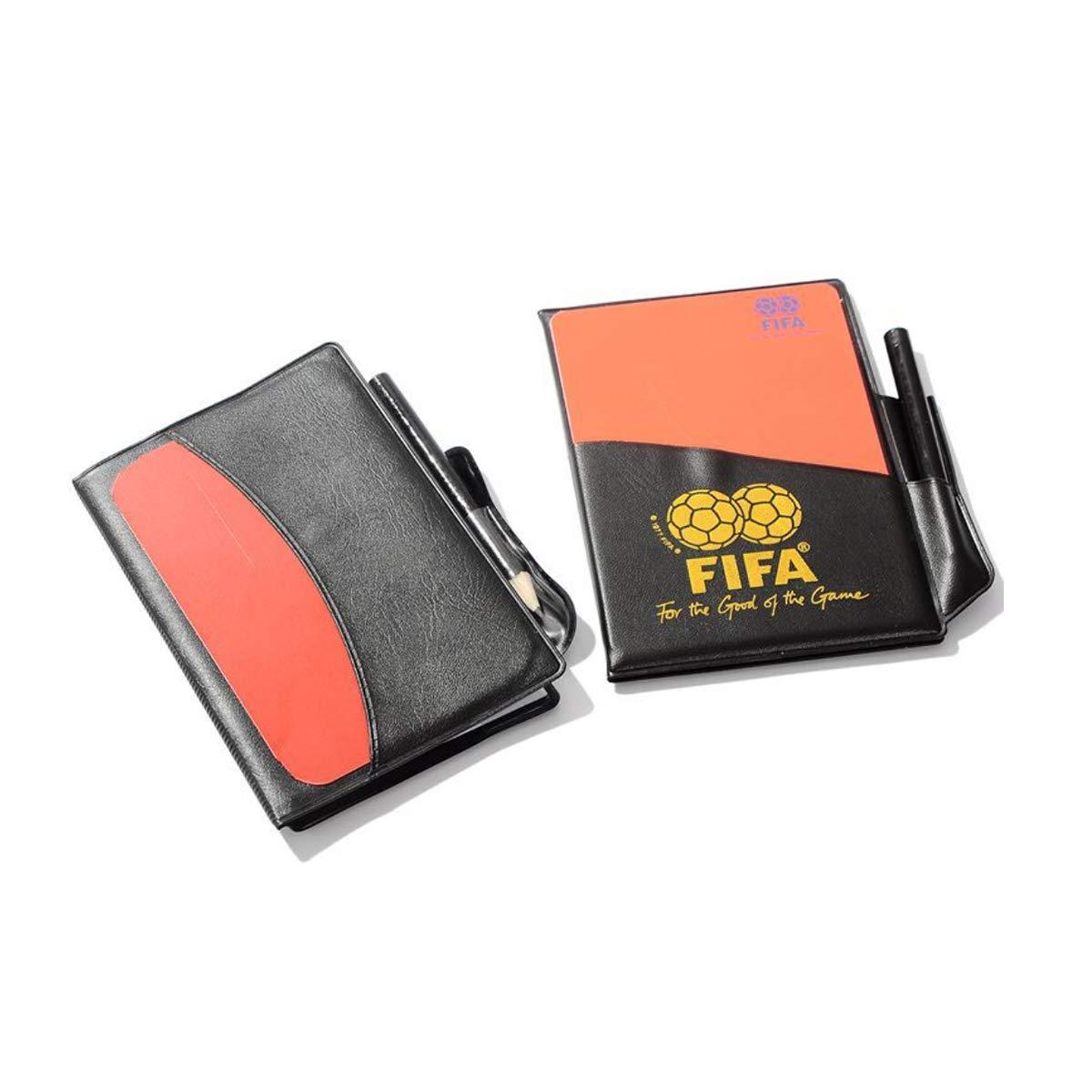arbitro record pena di 2/pezzi Jiele arbitri notebook rosso e giallo carta normale grande rosso di giallo della pelle