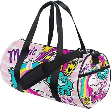 Travel Duffels Magical Unicorn Duffle Bag Luggage Sports Gym for Women /& Men