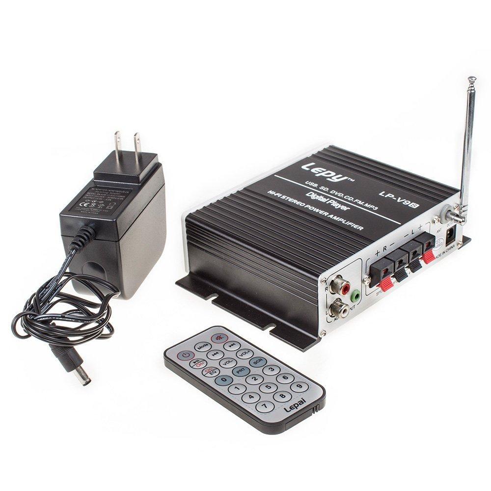 Lepy Lp V9s Hi Fi Stereo Power Digital Amplifier With Lepai Tripath Ta2020 Class T Mini Amp Hifi Audio Usb Sd Dvd Cd Fm Mp3 Cell Phones Accessories