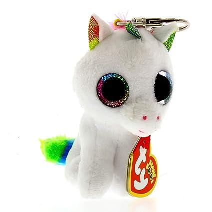 7fe4aef4a5a Amazon.com  Ty Beanie Boos Pixy The Unicorn Clip  Toys   Games