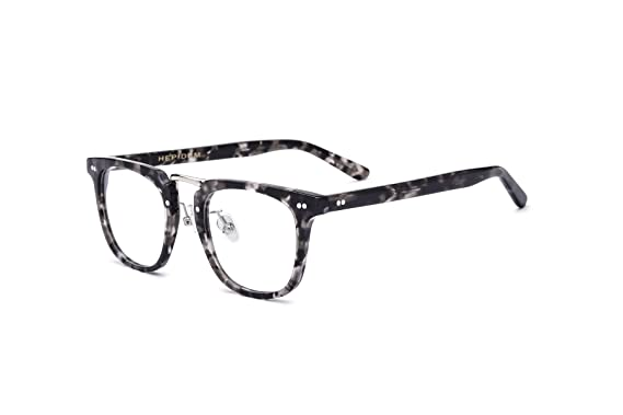 f4eebc4b587 HEPIDEM Acetate 2018 Men Square Myopia Glasses Frame Eyewear Spectacles  7200 (Gray Leopard)