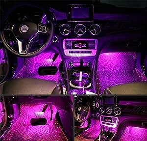 Amazon.com: 4Pcs Car LED Interior Underdash Lighting Kit w
