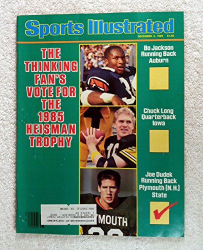 - Bo Jackson (Auburn Tigers), Chuck Long (Iowa Hawkeyes) & Joe Dudek (Plymouth State Panthers) - Heisman Trophy Candidates - Sports Illustrated - December 2, 1985 - College Football - SI