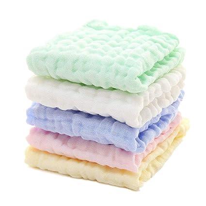 Paquete de 10 Toallitas de Baño para Bebé, Paños de Toallas de Bebé de Algodón