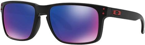 Oakley Gafas de sol Holbrook Ruby Irid Polar, unisex-adulto, Holbrook OO9102, Nero opaco, lenti + red iridium, 55 mm: Amazon.es: Deportes y aire libre