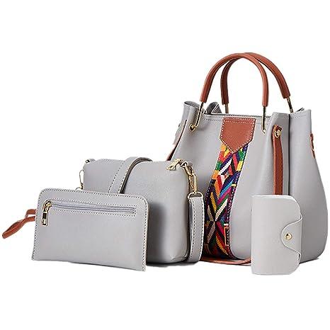präsentieren online zu verkaufen schnüren in COOFIT Handtaschen Set, Damen Handtasche Damen Tasche Set Handtaschen für  Frauen Taschenset Damenhandtaschen Set Leder Schultertasche Umhängetasche  ...