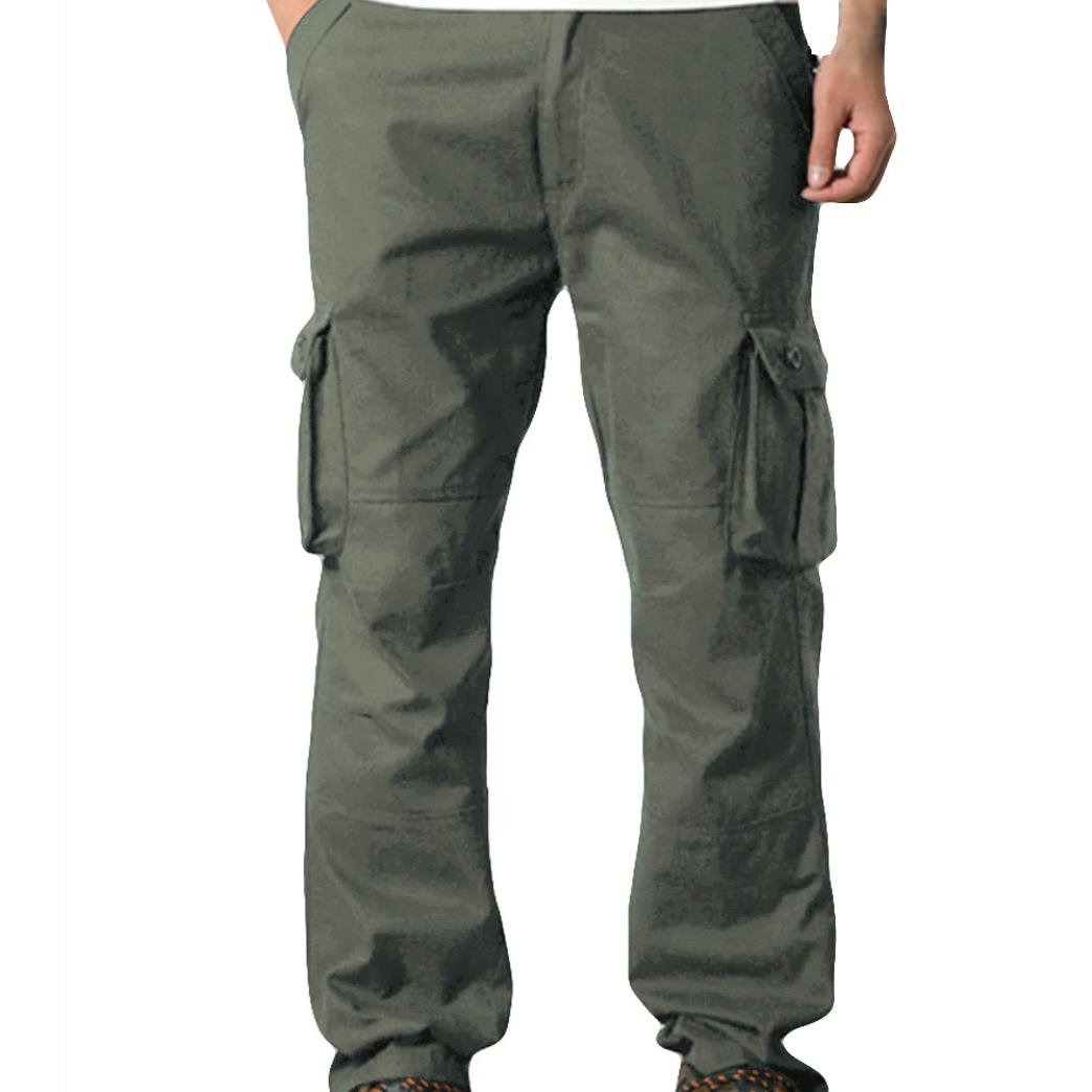Gillberry Men's Outdoor Casual Military Tactical Wild Combat Cargo Work Pants with 6 Pockets (Army Green, 42)
