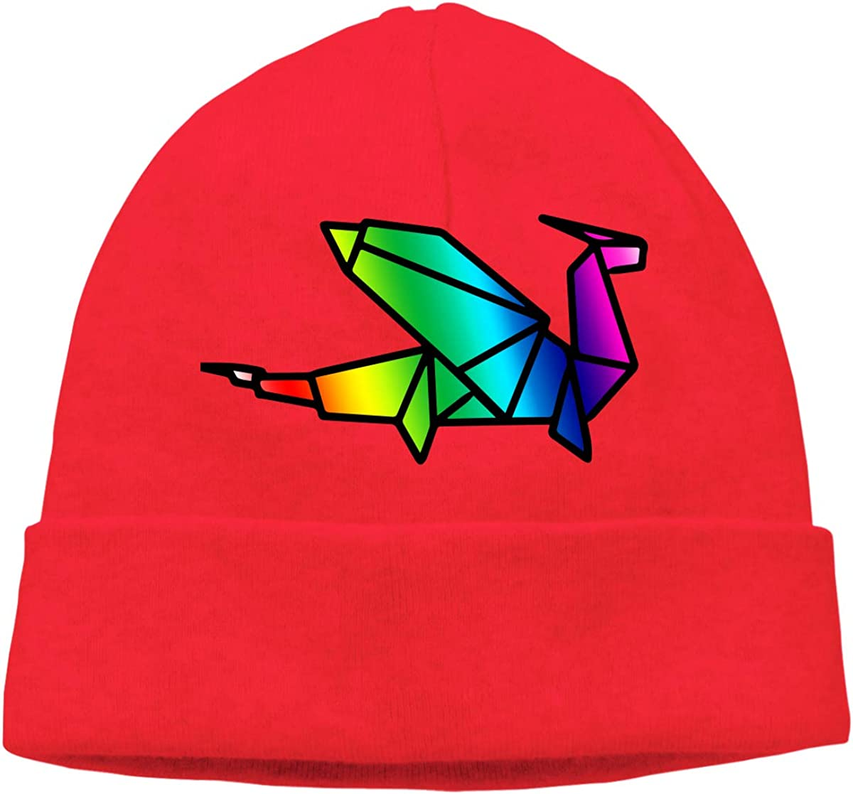 Mens/&Womens Origami Dragon Soft Knit Caps