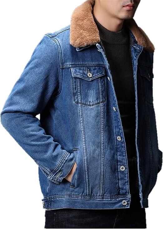 FORENJOY ボア デニムジャケット メンズ Gジャン デニム ジージャン 綿90% デニムコート 裏ボア 裏起毛 冬服 厚手 防寒 暖かい アウター ブルゾン ジャンパー アウトドア カジュアルジャケット