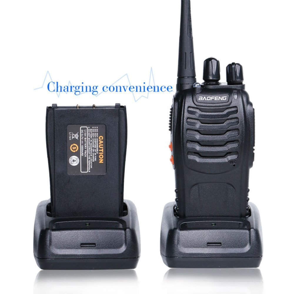 Baofeng BF-888S Rechargeable Long Range 5W Two Way Radio Walkie Talkies 16 Channel Handheld Radio Built in LED Torch Microphone With Earpiece(Pack of 10) 10 Pack by Baofeng (Image #5)