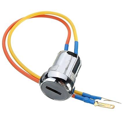 Amazon Com Ignition Switch Toogoo R 2 Wire Ignition Switch Key