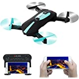 RC Drone With Camera,IDEA6 Axis Gyro Quadcopter with WIFI 720P HD Camera Foldable,2.4GHz APP Control,Altitude Hold, Headless Mode Function Seflie Drone