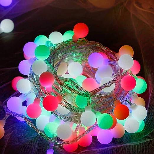 10m 80 Led bola globo luces de cuerda batería operada luces ...